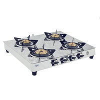 Sunshine Brilliante DGT Four Burner Mirror Gas Stove, lpg, manual