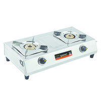 Sunshine Magic-1 Double Burner Stainless Steel Gas Stove, lpg, manual