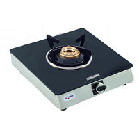 Sunshine Single Burner Alfa SS Toughened Glass Gas Stove, lpg, manual
