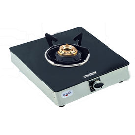 Sunshine Single Burner Alfa SS Toughened Glass Gas Stove