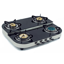 Sunshine Ceramic Four Burner Step Toughened Glass Top Gas Stove