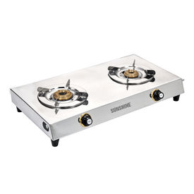 Sunshine VS-2 Premium Double Burner Stainless Steel Gas Stove