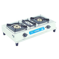 Sunshine Max Double Burner Stainless Steel Gas Stove, lpg, manual