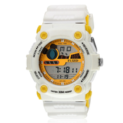 Fluid Dmf-00543-Bl01 White/Blue Digital Watch