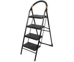 CiplaPlast Folding Ladder with Wide Steps - Milano 4 Steps