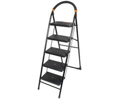 CiplaPlast Folding Ladder with Wide Steps - Milano 5 Steps