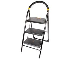 CiplaPlast Folding Ladder with Wide Steps - Milano 3 Steps