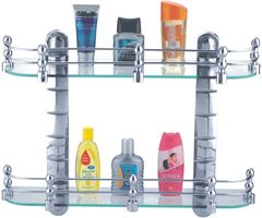 "Ciplaplast Bathroom Glass Shelves Set (20"" x5.5"" )"