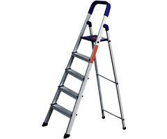 CiplaPlast Folding Aluminium Ladder - Home Pro 5 Steps