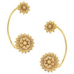 Deco Junction Bollywood style Designer Earcuff, 6, golden