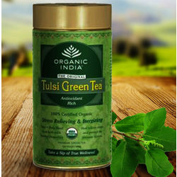 Organic India Tulsi Green Tin, 100 gm