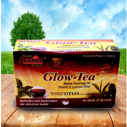Sunrise Organic Glow Tea (Stevia) Formula of Ayurved, 100 g