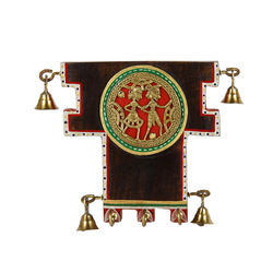 VarEesha Dhokra Key Hook, 300 g, brown with multicolor hand work, 5x1x5
