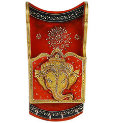 VarEesha Handcrafted Ganesha Key Holder, 410 g, multicolored, 5.5x2x10