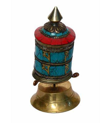 (VYOM SHOP) NEPALI PRAYER WHEEL STANDING
