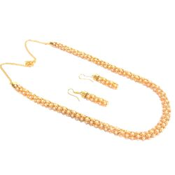 Deco Junction Pearl Mala with earring, 48, offwhite