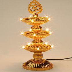 (GHASITARAM) Om Diya with 15 Lights