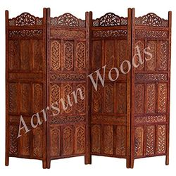 Aarsun Woods: Sheesham Wooden Partition., wood, brown, 35kgs