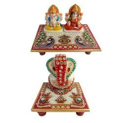 (retailobiz) A Set of Ganesh Laxmi Chowki