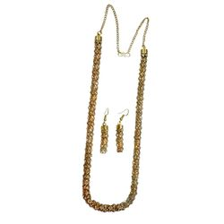 Deco Junction Stone Mala set golden Colour With Brass Material 56cm, 56, golden