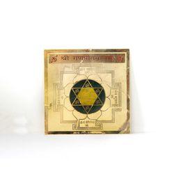 Shubhpuja Shree Ganpati Siddha Yantra gold plated, 450