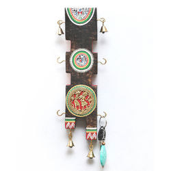 VarEesha Dhokra Key Hook Panel, 700 g, multicolored, 3x1x12