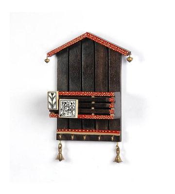 VarEesha Hut Key Hook, 400 g, red  brown, 7x3x9