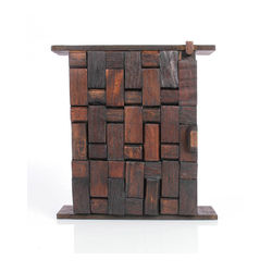 VarEesha Antique Brown Wood Key Box, 1200 g, brown, 10x3x12