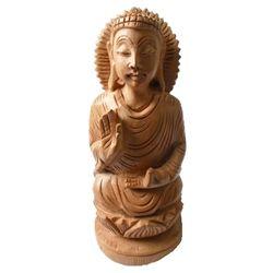 Deco Junction Wooden Buddha 5 Inch - Deco Junction, wooden, 9, 4