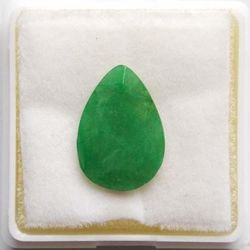 RUDRA GEMS Emerald Gemstone, pear faceted, 14.35 10.03 3.45mm, 3.33cts 3.69ratti