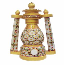 Deco Junction Marble Lantern - 8 Inch - Deco Junction, marble, 25, 10