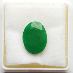 RUDRA GEMS Emerald Gemstone, oval faceted, 12.90 9.70 4.70mm, 3.71cts 4.12ratti