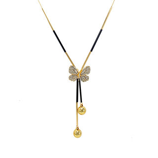 Gorgeous Gold Tone Butterfly Fashion Pendant