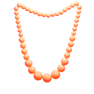 Beautiful Orange Balls Stretchable Fashion Necklace