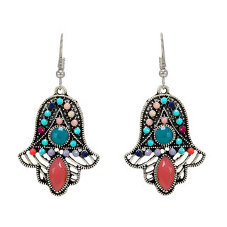 Multi-Color Metallic Fashion Danglers For Women