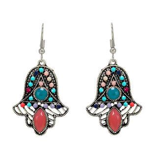 Multi-Color Metallic Fashion Danglers For Women
