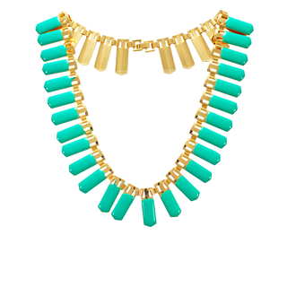 Beautiful Golden and Green Fashion Necklace for Women