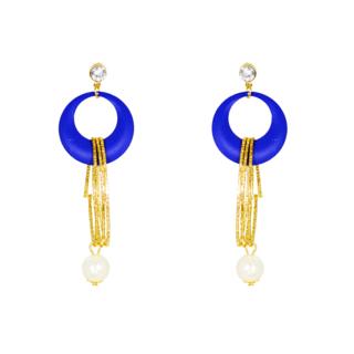 Royal Blue Fashion Dangler With Golden Strings