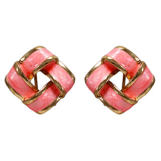 Pink And Golden Square Tops For Women