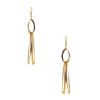 Golden Long & Drop Fashion Dangler Earrings For Women