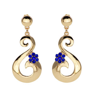 Blue And Golden S Shape Dangler