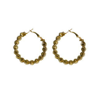 Curvy Golden Semi-Ethnic Alloy Baali For Women