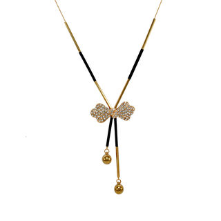 Gorgeous Gold Tone Bow Design Fashion Pendant