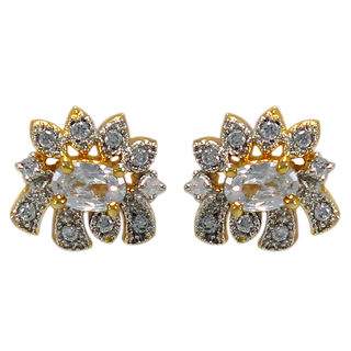 Floral Design American Diamond Studs