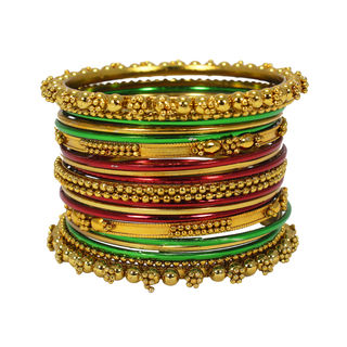 Multi-Color 21 Bangle Set In Metal Alloy For Women, 2-4