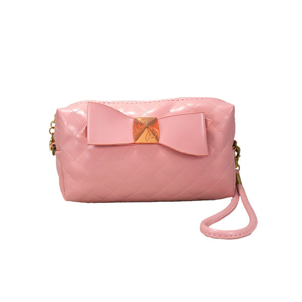 Trendy Pink Wallet Cum Sling Clutch For Women