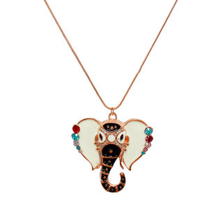 Multi-Color Ganesh design Pendant On Copper Chain