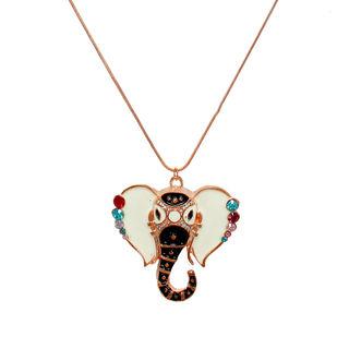 Multi-Color Ganesh design Pendant On Copper Chain
