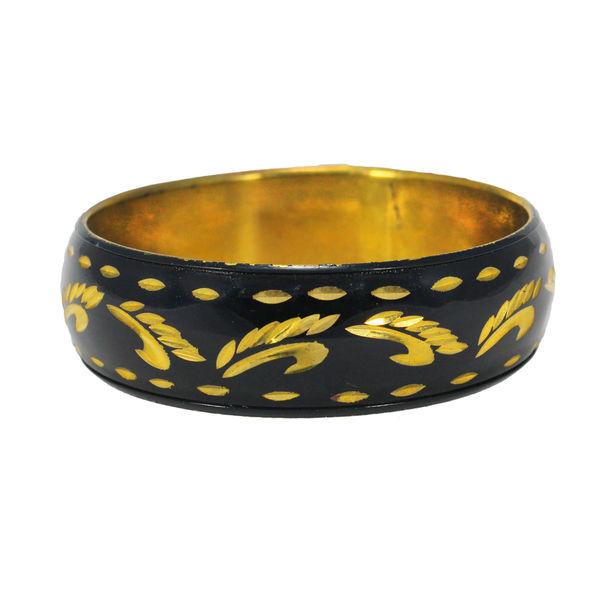 Elegant Bracelet Bangle In Black And Golden for Women, 2-6