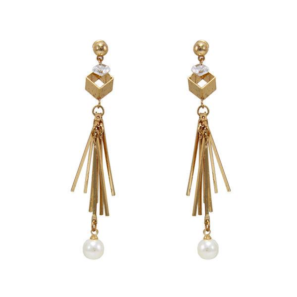 Golden Long Drop Fashion Earrings For Women